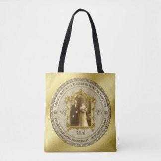 Golden Wedding Anniversary Classic Photo Frame Tote Bag
