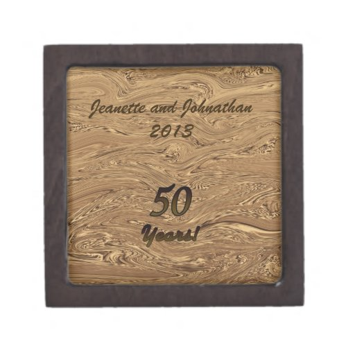 Golden Wedding Anniversary Gift Box Zazzle