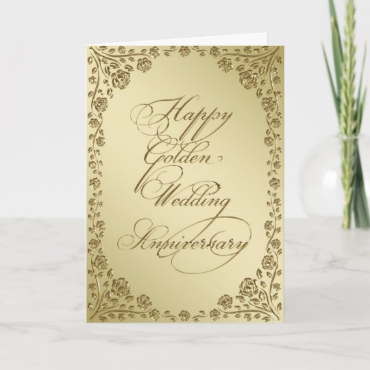 Golden wedding anniversary greeting card zazzle golden wedding anniversary greeting card m4hsunfo