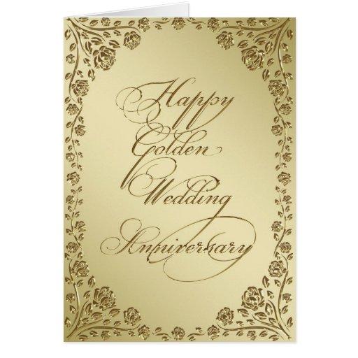 Golden Wedding Anniversary Greeting Card