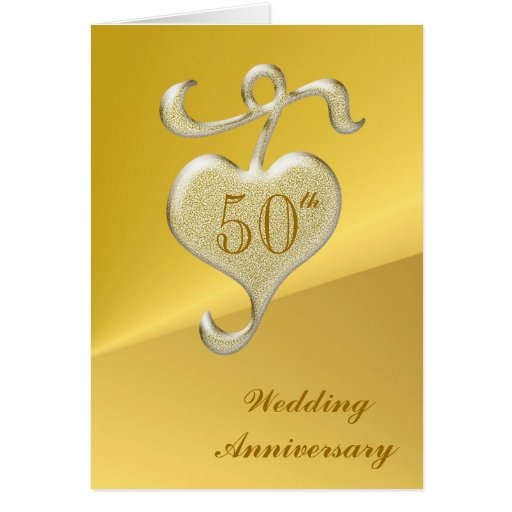 Golden Wedding Anniversary Greeting Card | Zazzle