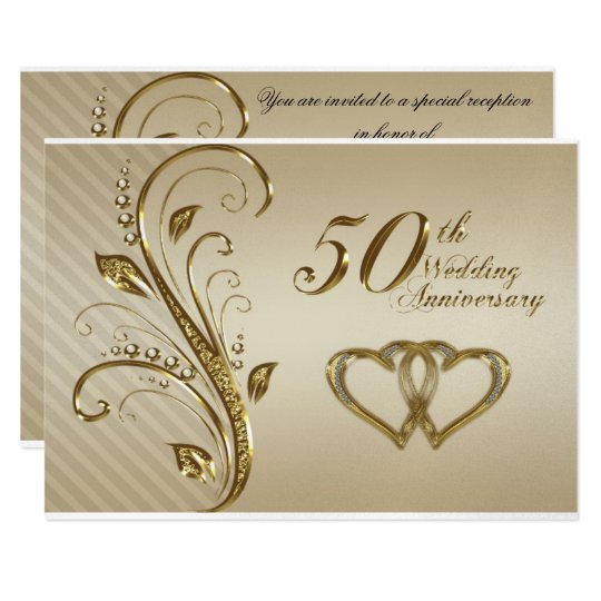 Golden Wedding Anniversary Invitations Wording: Golden Wedding Anniversary Invitation Card