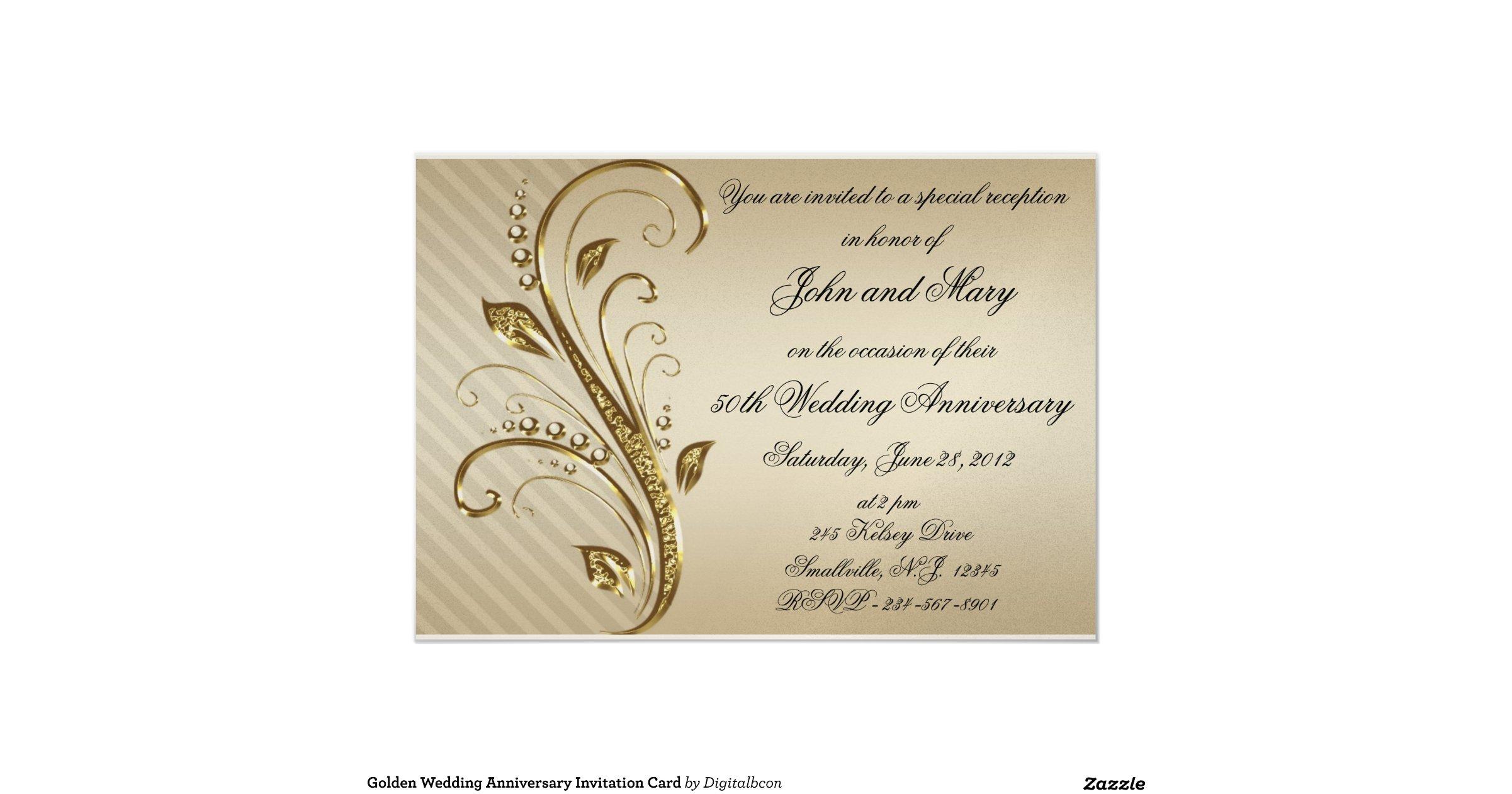 invitation cards golden wedding anniversary - 28 images - golden ...