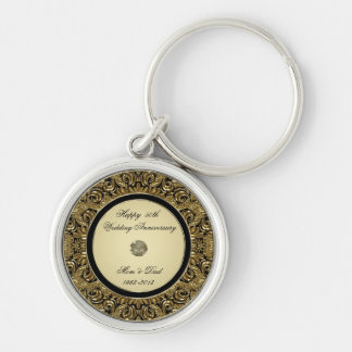 Golden Wedding Anniversary Key Chain