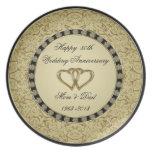 Golden Wedding Anniversary Melamine Plate