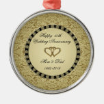 Golden Wedding Anniversary Ornament