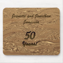 Golden Wedding Anniversary Personalized Mouse Pad