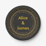 Golden wedding anniversary personalized paper plate