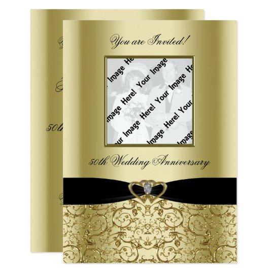 Golden Wedding Anniversary Photo Invitation Card Zazzle