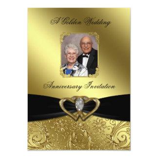 "Golden Wedding Anniversary Photo Invitation Card 4.5"" X 6.25"" Invitation Card"