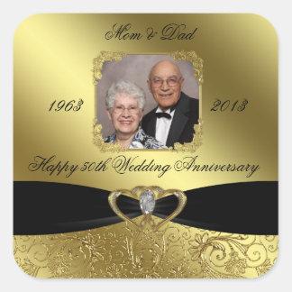 Golden Wedding Anniversary Photo Sticker