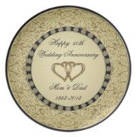 Golden Wedding Anniversary Plate
