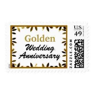Golden Wedding Anniversary Postage