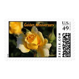 Golden Wedding Anniversary Postage Stamp