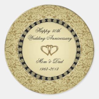 Golden Wedding Anniversary Sticker
