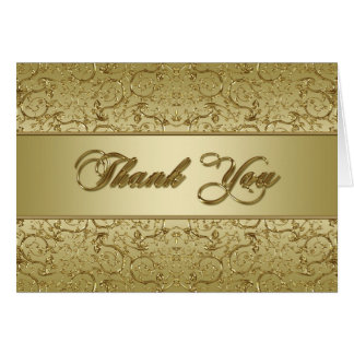 Golden Wedding Anniversary Thank You Greeting Cards