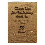 Golden Wedding Anniversary Thank You Note Card
