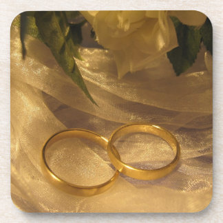 Golden Wedding Bands Coaster