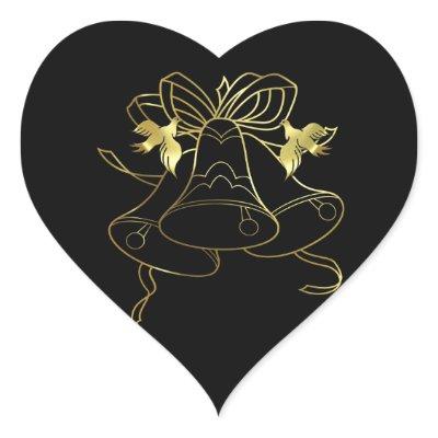 Golden Wedding Bells and Doves