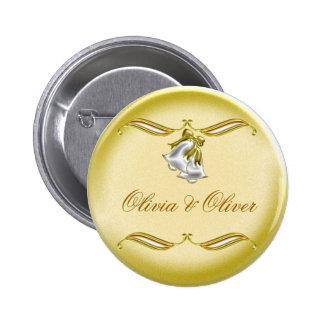 Golden Wedding Button