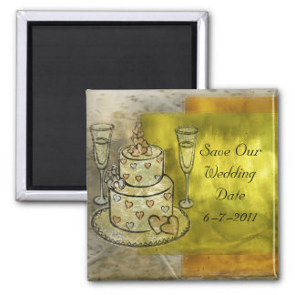 Golden Wedding Celebration Magnet