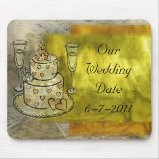 Golden Wedding Celebration Mouse Pad