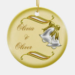 Golden Wedding Christmas Tree Ornament
