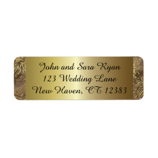Golden Wedding Fireworks Label