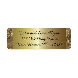 Golden Wedding Fireworks Label