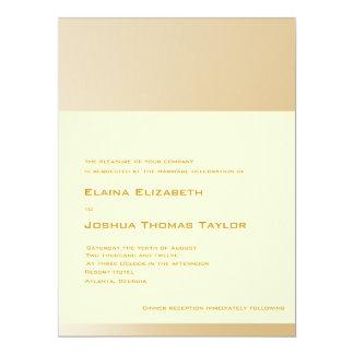 Golden Wedding Invitation (Off White Background)