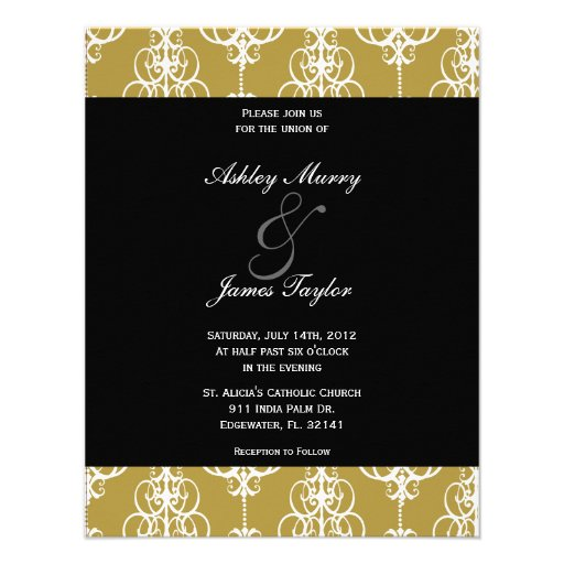 Golden Wedding Invitation, Please join usfor th...
