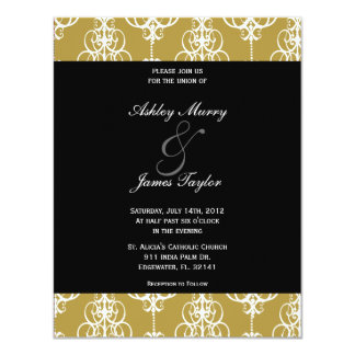 Golden Wedding Invitation, Please join usfor th... Card