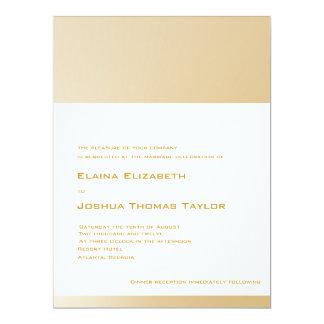 Golden Wedding Invitation (White Background)