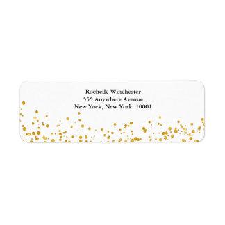 Golden wedding label