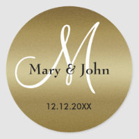 Golden Wedding Monogram Seals