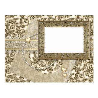 Golden Wedding or Anniversary Invitations or Notes Postcard