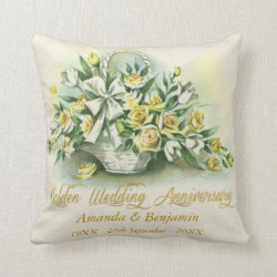 Golden Wedding Personalised Throw Pillow