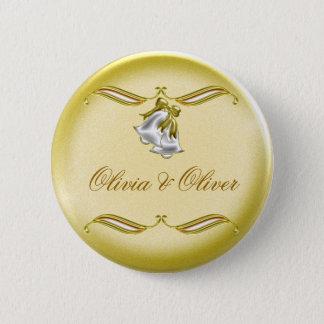 Golden Wedding Pinback Button