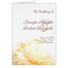 Golden Wedding Program Cards