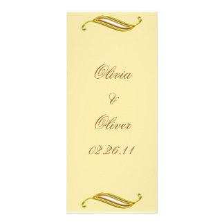 Golden Wedding Rack Card