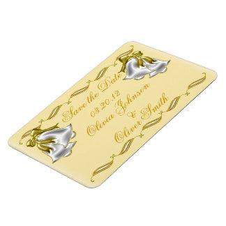 Golden Wedding Rectangular Photo Magnet