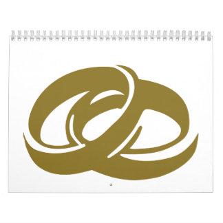 Golden Wedding Rings Calendar