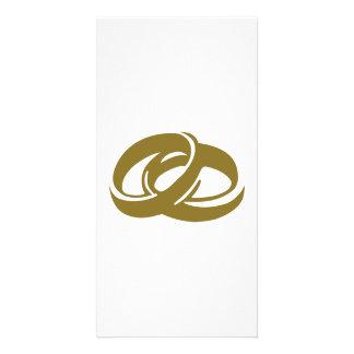 Golden Wedding Rings Card