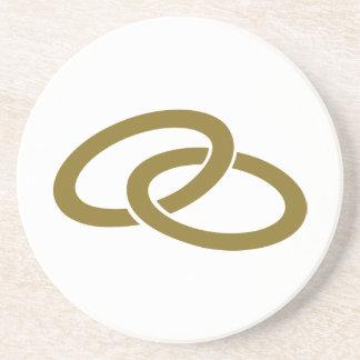 Golden Wedding rings Coasters