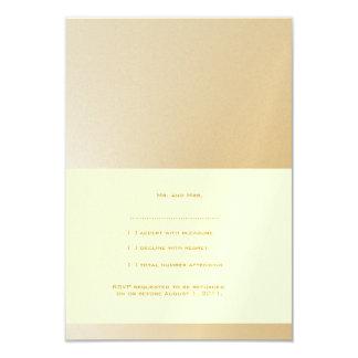 Golden Wedding RSVP Cards  (Off White Background)