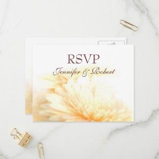 Golden Wedding RSVP Postcard