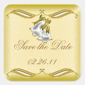 Golden Wedding Square Sticker
