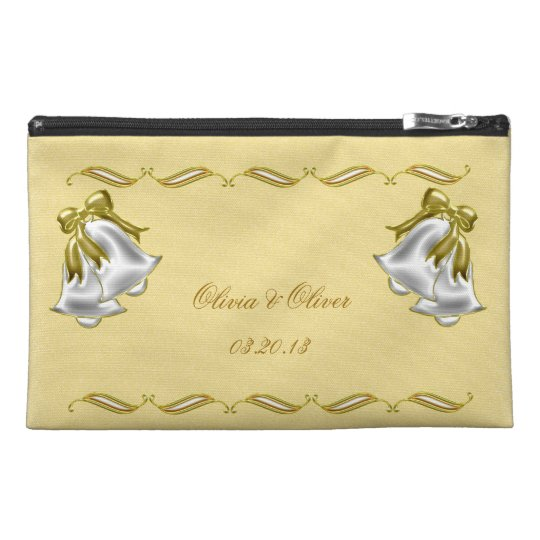 Golden Wedding Travel Accessory Bag