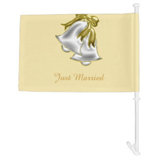 Golden Wedding Car Flag