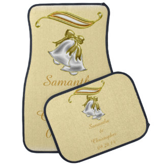 Golden Wedding Floor Mat